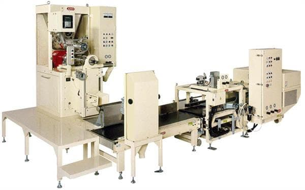 AMO's automatic line for valve bag packers