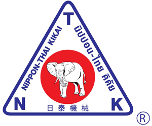 NKT's logo with elephant at the middle of triangle