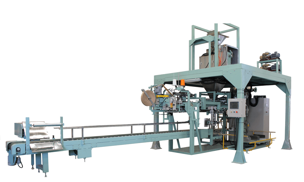 Automatic open-mouth bagging machine with bag sealing machine